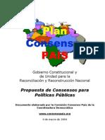 Plan Consenso País Coordinadora Democrática 2004