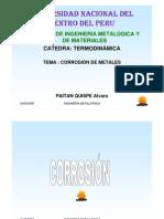 TEMA  CORROSIÓN DE METALES