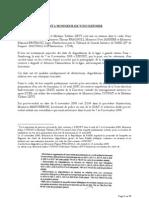 Plainte contre X pour faux et usage de faux en ecriture publique