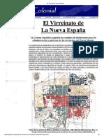 El virreinato de  la Nueva  España