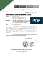 Informe Sobre Rendición de Cuentas Organizada Por La Comisaria Pnp La Perla Correspondiente Al II Trimestre Cpnp La Perla..