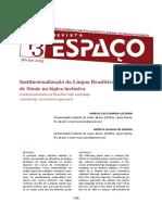 Institucionalização da Língua Brasileira de sinais na logica inclusiva