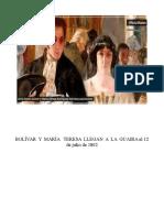 Bolivar y Maria Tereaa Llegan a La Guaira El 12 de Julio de 1802