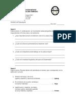 Evaluacion Cultura Tercero 2da. Unidad
