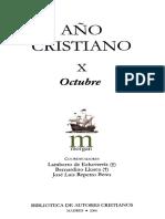 AÑO CRISTIANO 10 (OCTUBRE) (BAC 2006) - Lamberto Echevería, Bertnardino Llorca, J. Luis Repetto Betes