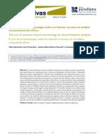 A utilização da terminologia sobre os fatores comuns na análise comportamental clínica