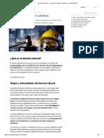 Derecho Laboral - Concepto, orígenes, fuentes y características