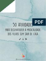 50 ATIVIDADES MUSICAIS EM CASA