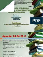 Plano de ação para coordenação pedagógica
