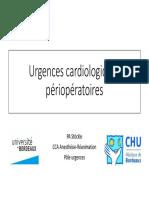 Urgences cardiologiques en périopératoires - Dr P-A. STOCKLE