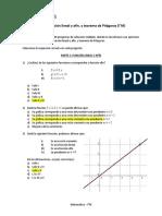 PRUEBA N°2 (I°) Función lineal y afín y T. de Pitágoras - Solis