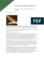 Las versiones más importantes de la Biblia en español