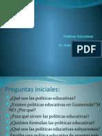 Definición de  Políticas educativas  2021