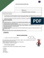 Guía de revinculación 5° básico