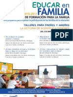 PLAN CANARIO DE FORMACIÓN PARA LA FAMILIA - EDUCAR EN FAMILIA - LA VICTORIA
