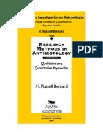 Metodos de Investigacion en Antropologia