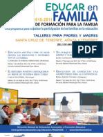 PLAN CANARIO DE FORMACIÓN PARA LA FAMILIA - EDUCAR EN FAMILIA - SANTA CRUZ - AÑAZA