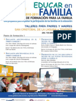 PLAN CANARIO DE FORMACIÓN PARA LA FAMILIA - EDUCAR EN FAMILIA - SAN CRISTÓBAL DE LA LAGUNA