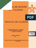 MANUAL DE CALIDAD DEL CERREJON