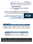 ValuEngine Weekly newsletter March 25, 2011