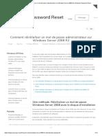Comment Réinitialiser Un Mot de Passe Administrateur Sur Windows Server 2008 R2 _ Windows Password Reset