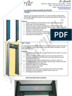 De-Securite Metal Detectors Premium Brochure