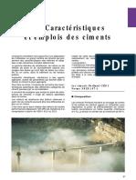 Caracterstique Et Emplois Des Ciment