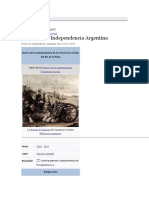 GUERRA DE LA INDEPENDENCIA ARGENTINA