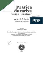 1-Zabala - Cap 1 - A Prática Educativa - Unidades de Análise