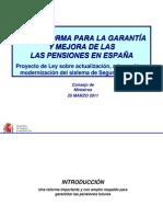 ANTEPROYECTO DE LEY SOBRE ACTUALIZACIÓN, ADECUACIÓN Y MODERNIZACIÓN DEL SISTEMA DE SEGURIDAD SOCIAL