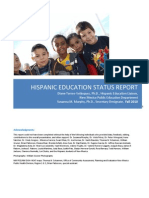 Hispanic Education Status Report Narrative Only 3.11