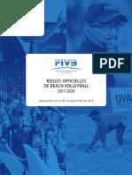 Fivb- Regles Du Beach Volley 2017-2020