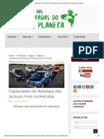 Capacidade de Reboque das pickups mais conhecidas - Nas estradas do planeta
