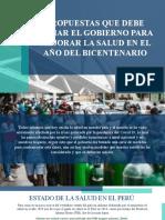 Propuestas Para La Mejorar La Salud (Reportaje)