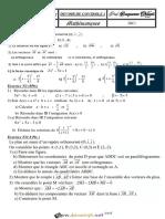 Devoir de Contrôle N°1 - Math - 2ème Sciences (2018-2019) Mr Bouzouraa Chaouki