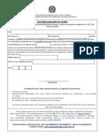 Anexo I Autodeclaração de Saúde