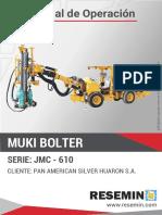 MANUAL DE OPERACIÓN MUKI BOLTER JMC-610