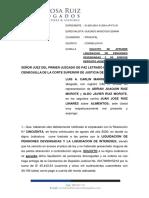 SOLICITO SE APRUEBE LIQUIDACION DE PENSIONES DEVENGADAS Y SE ENDOSE DEPOSITO JUDICIAL