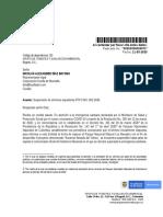20202300024071 suspensión PFFO 002-2020