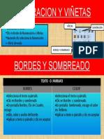 NUMERACION Y VIÑETAS,  BORDES Y SOMBREADO