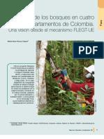 El manejo de los bosques en cuatro Departamentos de Colombia