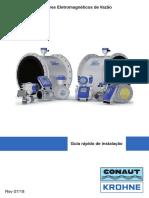 Guia rápido de instalação de medidores eletromagnéticos de vazão