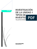 Investigación de La Unidad 1 Tipos de Investigación