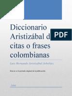 Diccionario Aristizábal de Citas o Frases Colombianas