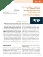 Uso de antisépticos y antibióticos en el manejo de la carga bacteriana de heridas cronicas