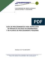 OSPESCA - Guia Inspeccion Sitios Desembarque y Plantas Procesadoras (2012)
