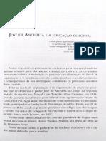 José de Anchieta e a Educação Colonial
