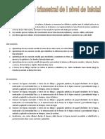 Plan de trabajo de Inicial año 2020 - 2021