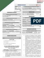 NORMAS LEGALES-LEY DE SISTEMA NACIONAL DE CIENCIA, TECNOLOGÍA E INNOVACIÓN (1)