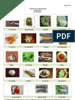 Italian Food Vocabulary-Vegetables